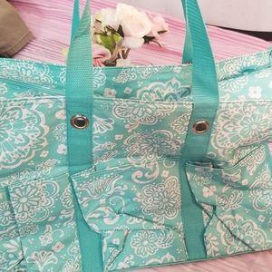 Thirty One Utility Tote Bag NIP turquoise